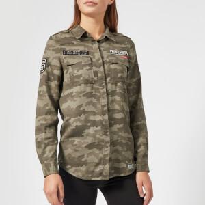 Superdry Women's Emma Military Shirt Jacket - Faded Camo