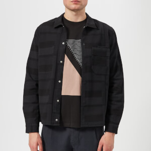 Folk Men's Angle Pocket Shirt Jacket - Washed Black