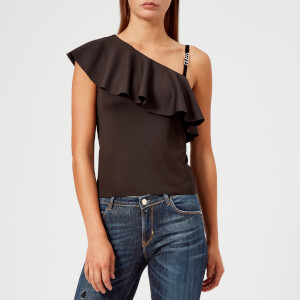 Guess Women's One Shoulder Betty Knitted Top - Jet Black