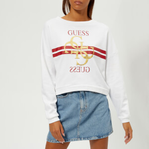 Guess Women's G Logo Fleece - True White