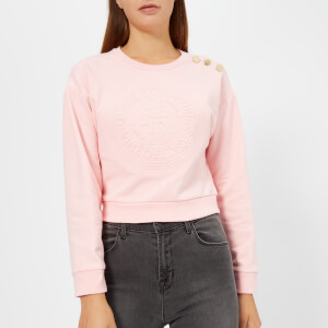 Guess Women's Cropped Fleece - Beloved Pink