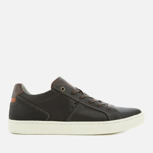 Dune Men's Tooting Nubuck Low Top Trainers - Black