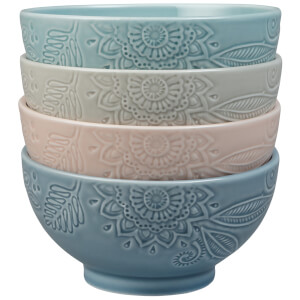 Denby Monsoon Gather Set Of 4 Medium Bowls