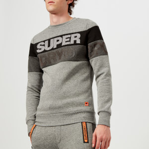 Superdry Sport Men's Cut Crew Sweatshirt - Grey Grit
