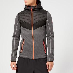 Superdry Sport Men's Chevron Hybrid Hooded Jacket - Urban Grey Heather