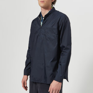 Our Legacy Men's Shawl Zip Shirt - Blue Nylon