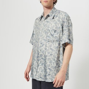 Our Legacy Men's Borrowed Short Sleeve Shirt - Sun Blue Paisley
