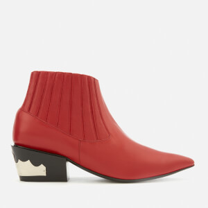 Toga Pulla Exclusive Women's Leather Ankle Boots - Red