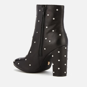 Kurt Geiger London Women's Swiss Leather Heeled Ankle Boots - Black: Image 3