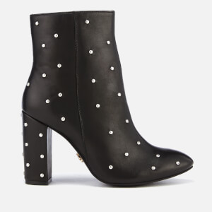 Kurt Geiger London Women's Swiss Leather Heeled Ankle Boots - Black: Image 1