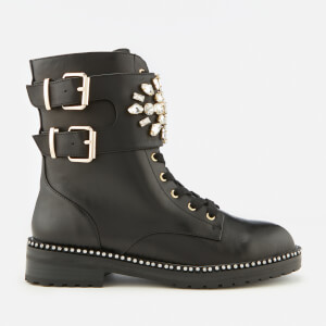 Kurt Geiger London Women's Stoop Leather Lace-Up Boots - Black