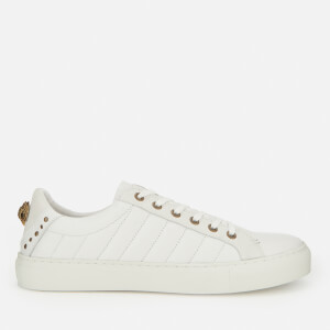 Kurt Geiger London Men's Ludom Leather Cupsole Trainers - White