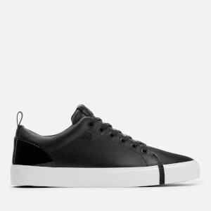 Armani Exchange Women's Leather/Patent Low Top Trainers - Black/Black