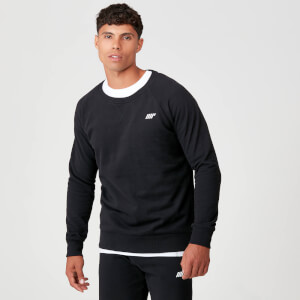 Myprotein Tru-Fit Crew Neck Sweatshirt - Black