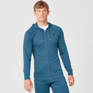 Form Zip Up majica s kapuljačom - Petrolej plava