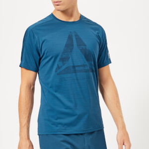 Reebok Men's Graphic Move Short Sleeve T-Shirt - Blue