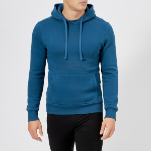 Reebok Men's Big Logo Hoody - Bunker Blue