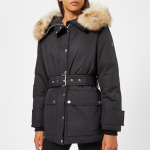 Belstaff Women's Dawlby Fur Trim Coat - Black
