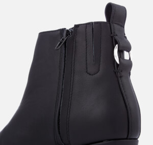 Steve Madden Women's Clover Leather Heeled Ankle Boots - Black: Image 4