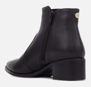 Steve Madden Women's Dylles Leather Heeled Ankle Boots - Black: Image 2