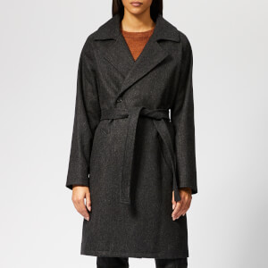 A.P.C. Women's Bakerstreet Coat - Anthracite Chine