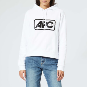A.P.C. Women's Lettrism Hoody - White