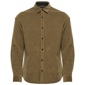 Only & Sons Men's Marshall Long Sleeve Corduroy Shirt - Ermine