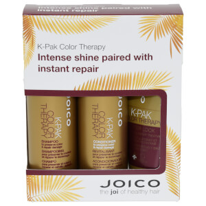 Joico K-Pak Color Therapy Trio Travel Set - Shampoo 50ml & Conditioner 50ml & Luster Lock Treatment 50ml