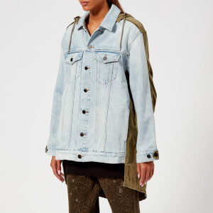T by Alexander Wang Women's Daze Mix Bleach Jacket - Bleach/Army Green