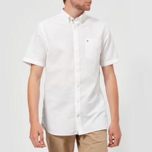 Tommy Hilfiger Men's Engineered Short Sleeve Shirt - Bright White