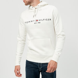 Tommy Hilfiger Men's Tommy Logo Hoody - Snow White
