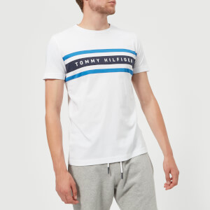 Tommy Hilfiger Men's Logo Band Graphic T-Shirt - Bright White