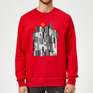 Sweat Homme Les Indestructibles 2 Skyline - Rouge