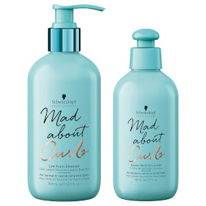 Schwarzkopf Professional Mad About Curls Low Foam Cleanser + Twister Definition Cream