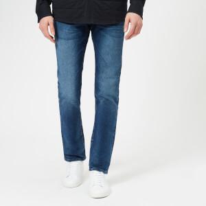 Armani Exchange Men's Slim Fit Washed Denim Jeans - Blue