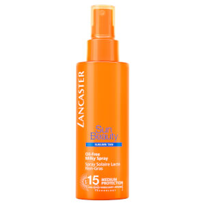 Spray com FPS 15 Sun Beauty Oil Free Milky da Lancaster 150 ml