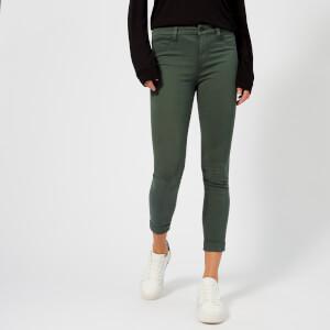 J Brand Women's Anja Mid Rise Cuffed Crop Jeans - Granite
