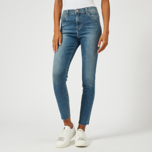J Brand Women's Alana High Rise Skinny Cropped Jeans with Raw Hem - Delphi