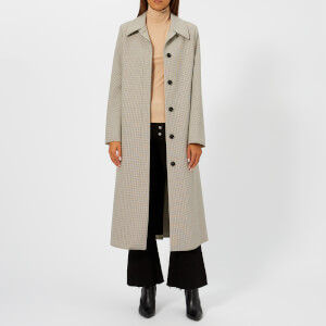 MM6 Maison Margiela Women's Bonded Jersey Coat - Checked Beige