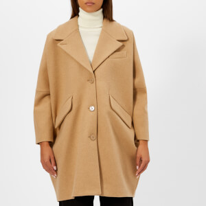 MM6 Maison Margiela Women's Felt Wool Cocoon Coat - Beige