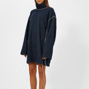 MM6 Maison Margiela Women's Oversized High Neck Jumper - Blue