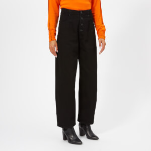 MM6 Maison Margiela Women's Button Opening Jeans - Black