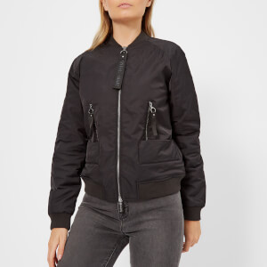 Armani Exchange Women's Blouson Bomber Jacket - Black