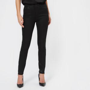 Armani Exchange Women's 5 Pocket Super Skinny High Rise Jeans - Black
