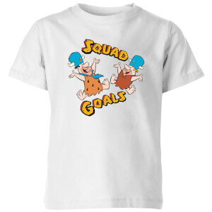 The Flintstones Squad Goals Kinder T-shirt - Wit
