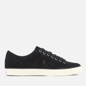 Polo Ralph Lauren Men's Sherwin Suede Vulcanised Trainers - Black