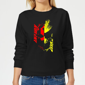 Ant-Man And The Wasp Split Face Damen Pullover - Schwarz