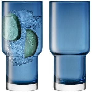 LSA Utility Highball Glasses - 390ml - Sapphire - Set of 2