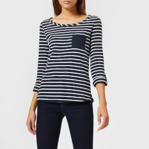 Barbour Women's Newquay Top - Navy/White