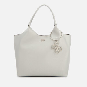 Guess Women's Flora Small Shopper Bag - Silver